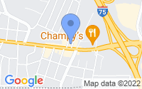 Map of Chattanooga TN