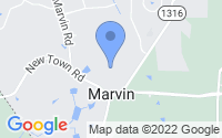 Map of Marvin NC