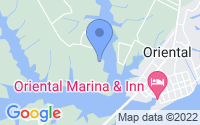 Map of Oriental NC