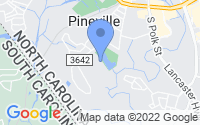Map of Pineville NC