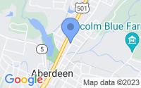 Map of Aberdeen NC