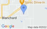 Map of Blanchard OK