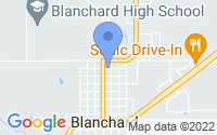 Map of Blanchard OK