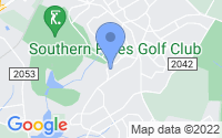 Map of Southern Pines NC