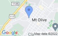 Map of Mount Olive NC