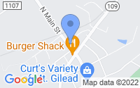 Map of Mount Gilead NC