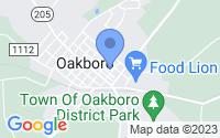 Map of Oakboro NC