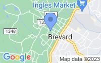 Map of Brevard NC