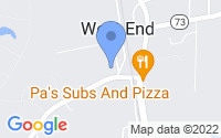 Map of West End NC