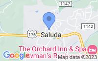 Map of Saluda NC