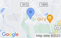 Map of Flat Rock NC