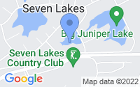 Map of Seven Lakes NC