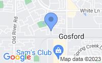 Map of Bakersfield CA