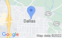 Map of Dallas NC