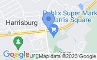 Map of Harrisburg NC