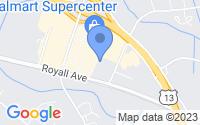 Map of Goldsboro NC