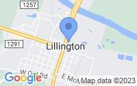 Map of Lillington NC