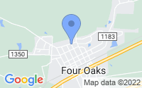 Map of Four Oaks NC