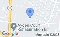 Map of Ayden NC