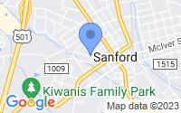 Map of Sanford NC