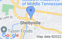 Map of Shelbyville TN
