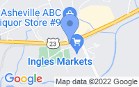 Map of Candler NC