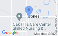 Map of Jones OK