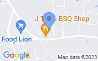 Map of Clayton NC