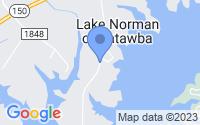 Map of Lake Norman of Catawba NC