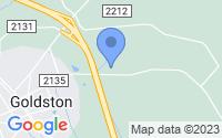 Map of Goldston NC