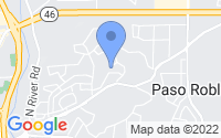 Map of Paso Robles CA