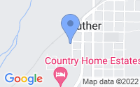 Map of Luther OK