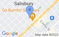 Map of Salisbury NC