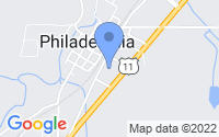 Map of Philadelphia TN