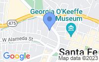 Map of Santa Fe NM