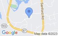 Map of Pittsboro NC