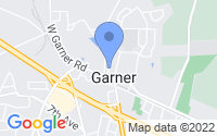 Map of Garner NC