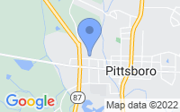 Map of Pittsboro NC
