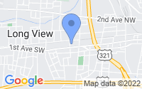 Map of Hickory NC