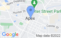 Map of Apex NC