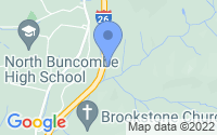 Map of Weaverville NC