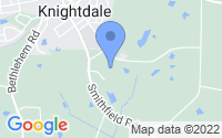 Map of Knightdale NC