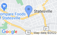 Map of Statesville NC