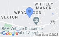 Map of Zebulon NC