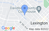 Map of Lexington NC