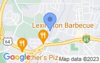 Map of Lexington NC