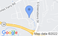 Map of Carrboro NC