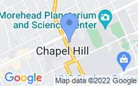Map of Chapel Hill NC