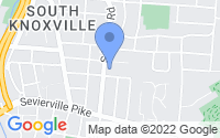 Map of Knoxville TN