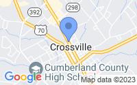Map of Crossville TN